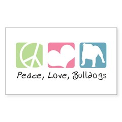 Peace, Love, Bulldogs Decal