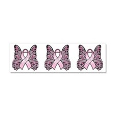 Pink Butterfly Hope Car Magnet 10 x 3