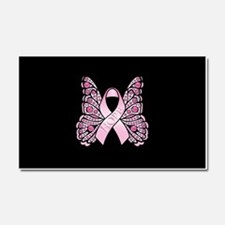 Pink Butterfly Hope Car Magnet 20 x 12