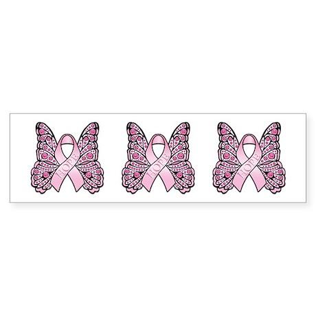 Pink Butterfly Hope Sticker (Bumper)