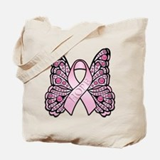 Pink Butterfly Hope Tote Bag