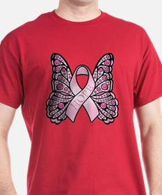 Pink Butterfly Hope T-Shirt