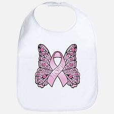 Pink Butterfly Hope Bib