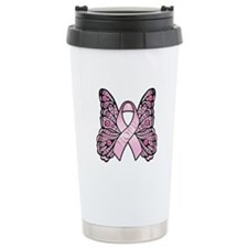 Pink Butterfly Hope Travel Mug