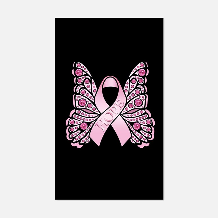 Pink Butterfly Hope Decal