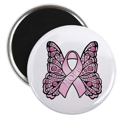 Pink Butterfly Hope Magnet