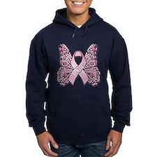 Pink Butterfly Hope Hoodie