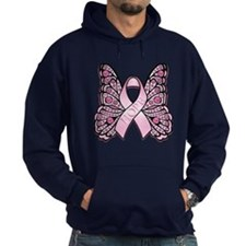 Pink Butterfly Hope Hoody