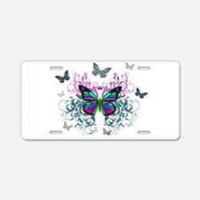MultiColored Butterflies Aluminum License Plate