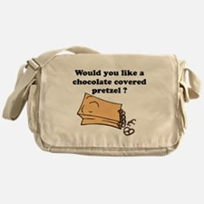 Chocolate covered pretzel Messenger Bag
