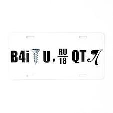 B4i screw U Aluminum License Plate