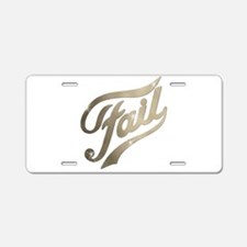 Fame - Fail gold Aluminum License Plate