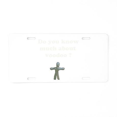 Voodoo Aluminum License Plate