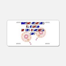 The American way Aluminum License Plate