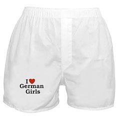 I loves German Girls Boxer Shorts