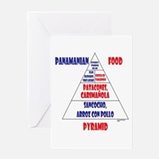 Panamanian Food Pyramid Greeting Card