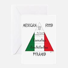 Mexican Food Pyramid Greeting Card