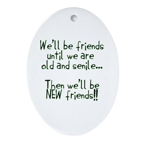 Friends Ornament (Oval)