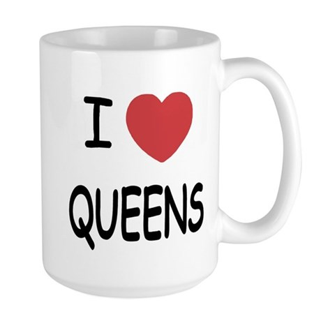 I heart queens Large Mug