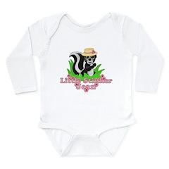 Little Stinker Jean Long Sleeve Infant Bodysuit