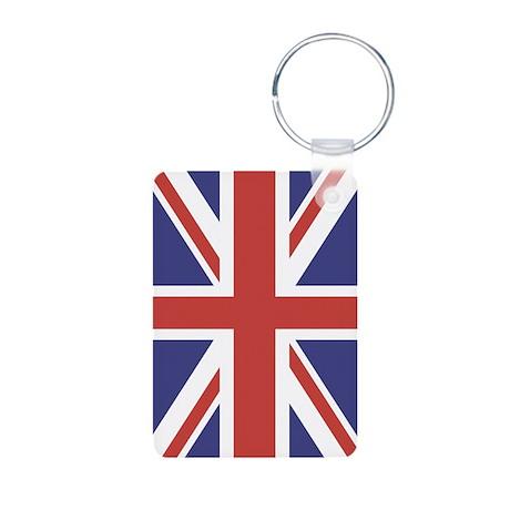UNION JACK UK BRITISH FLAG Aluminum Photo Keychain