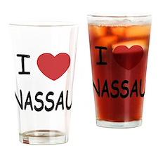 I heart nassau Drinking Glass