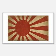 Japan flag Sticker (Rectangle)