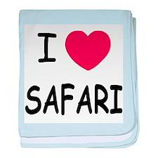 I heart safari baby blanket