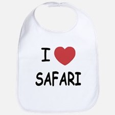 I heart safari Bib