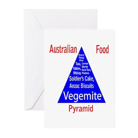Australian Food Pyramid Greeting Cards (Pk of 10)