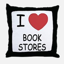 I heart bookstores Throw Pillow