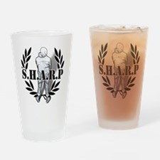 sharp skinhead Drinking Glass