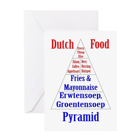 Dutch Food Pyamid Greeting Card