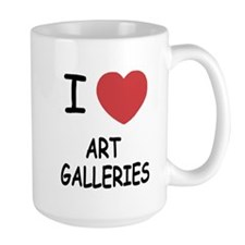 I heart art galleries Mug