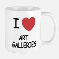 I heart art galleries Mug