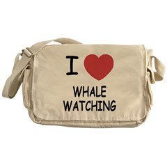 I heart whale watching Messenger Bag