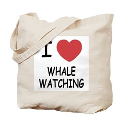 I heart whale watching Tote Bag