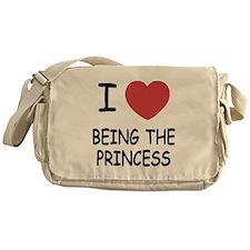I heart being the princess Messenger Bag