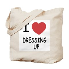 I heart dressing up Tote Bag