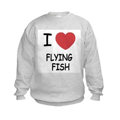I heart flying fish Sweatshirt