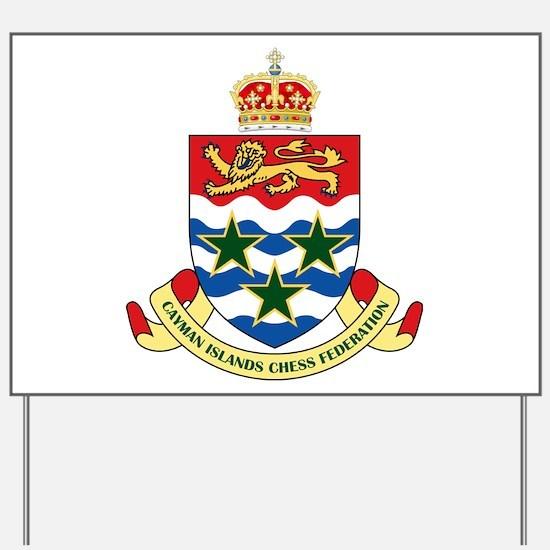 Cayman Islands Chess Yard Sign