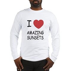 I heart amazing sunsets Long Sleeve T-Shirt