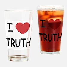 I heart truth Drinking Glass