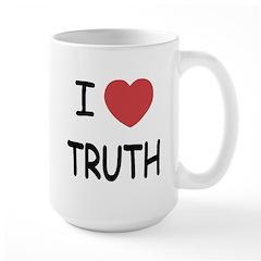 I heart truth Large Mug
