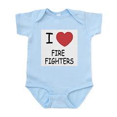 I heart fire fighters Infant Bodysuit