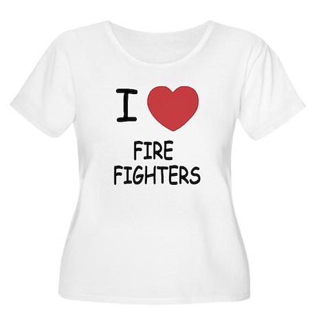 I heart fire fighters Women's Plus Size Scoop Neck