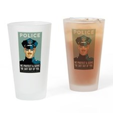 Police Protect & Serve Drinking Glass