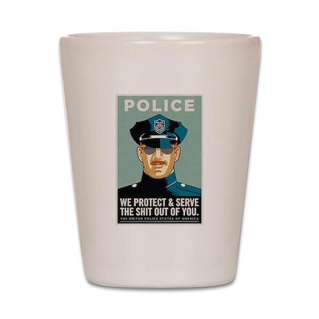 Police Protect & Serve Shot Glass