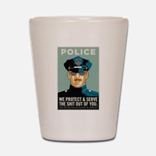 Police Protect & Serve Shot Glass