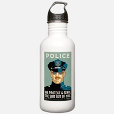 Police Protect & Serve Water Bottle